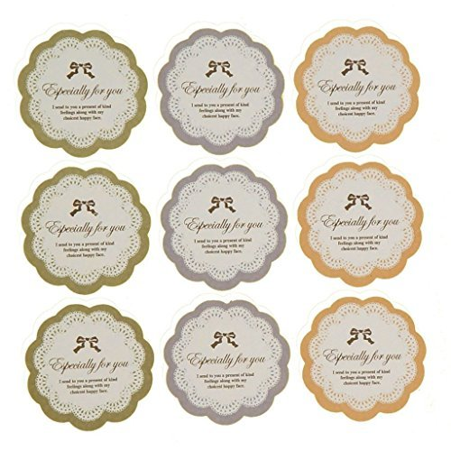 Especially for you Lace BowKnot Sticker for Gift Wrapping, Pack of 90