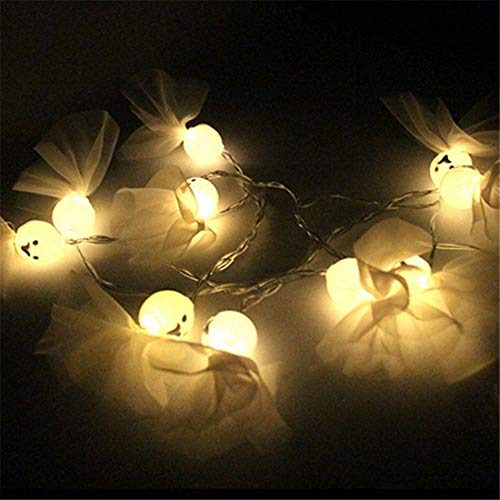 1.2M 10LED Ghost String Lights For Halloween Party Decor Halloween String Light Garden Decoration