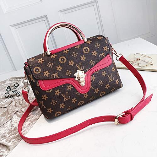 LFGCL Bags womenSimple and stylish EIN-Schulter-Handtasche mit Briefverschluss, rot