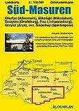 Landkarte Süd-Masuren: Olsztyn (Allenstein), Miko?ajki (Nikolaiken), Szczytno (Ortelsburg), Pisz (Johannisburg), Orzysz (Arys), Jez. ?niardwy (Spirdingsee) (Ostpreußen-Landkarten) - Dirk Bloch