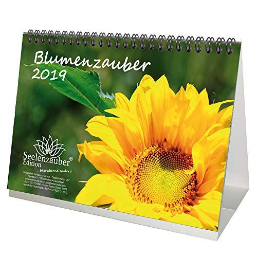 Blumenzauber · DIN A5 · Premium Tischkalender/Kalender 2019 · Blumenstrauß · Rose · Valentinstag · Blume · Schmetterling · Natur · Garten · Blüte · Farbe · Botanik · Edition Seelenzauber