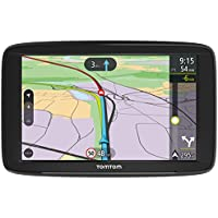TomTom VIA 62 5-Inch Sat Nav with Lifetime Western Europe Map Updates, Lifetime Traffic, Hands-Free Calling, Black