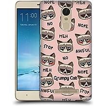 Official Grumpy Cat Pattern Grumpmoji Hard Back Case for Xiaomi Redmi Note 3
