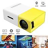 Konnison-1 Mini projecteur, projecteur vidéo LCD à LED Couleur Polychrome Portable pour Enfants présents, Film TV vidéo, Jeu de société, Divertissement en Plein air avec interfaces HDMI USB YG300