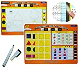 Unbekannt Stift + Pressogramm: schreib und wisch weg - Welt der Formen / Geometrie + Farben lernen - Mathematik - Vorschule Kindergarten üben / Übungsblatt