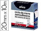 plico 13330-nastro di chiusura adesiva, 20mm X 10m, colore: Bianco
