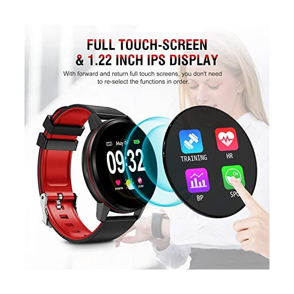 Smartwatch Deporte para Mujer Hombre con Pantalla Completa Táctil Monitores de Actividad Impermeable Outdoor Fitness… 3
