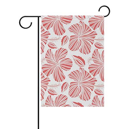 Gartenflagge wunderschöne Tropische Hibiskusblüte 30,5 x 45,7 cm Banner doppelseitig für Rasen Hof, Außendekoration, Polyester, Image 822, 12x18(in)