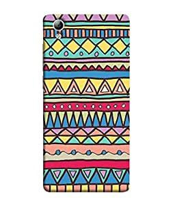 FUSON Designer Back Case Cover for Vivo Y51 :: Vivo Y51L (Tribal Patterns Colourful Eye Catching Verity Different )