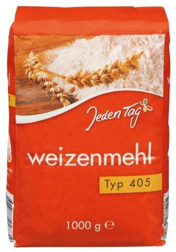 Jeden Tag Weizenmehl Type 405, 10er Pack (10x 1 kg)
