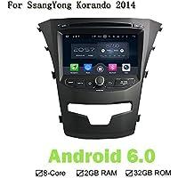 Android 6.0 ocho Core 2 G RAM 32 G ROM coche reproductor de DVD GPS navegación