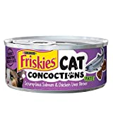 Purina Friskies Cat Concoctions Pate Scrumptious Salmon & Chicken Liver Dinner Cat Food, 5.5 Ounce Can by Purina Friskies
