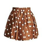 Molly Frau Rock Abschlussball Punkt Kurz Mini Gefaltet Röcke Freie Größe Brown