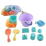 Newin Star 11-Pezzi Beach Sand Toys Set in Secchiello con Cerniera Castle Bucket di Bo Toys