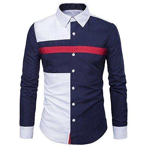 FRAUIT Hemd Herren Herbst Winter Langarm Oxford Formelle beiläufige Anzüge Slim Fit Männer T-Shirt Hemden Freizeit Business Party Stretch Bluse Top M-XXL 100% Baumwolle