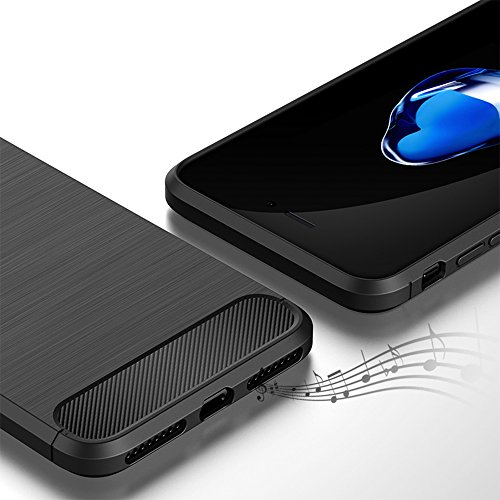 iPhone 7 Plus Hülle Case, Soft-Flex Silikon Capsule Premium [Blau] TPU Handyhülle Schutzhülle Schmaler Telefonschutz für das iPhone 7 Plus (iPhone 7 Plus, Blau) Schwarz