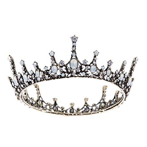 sweetv Kristall Princess Crown Hochzeit Prom Queen Tiara Pearl Haar Zubehör