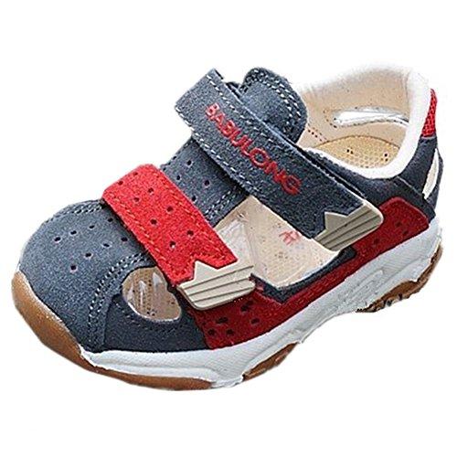 Scothen Enfants Sandales bride à la cheville sandales garçons fermées slingback été sandales plage pantoufles chaussures sandales plage d'été anti-dérapant pantoufles pour enfants Boy Chaussures Gris