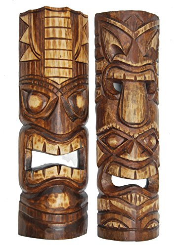 2-mscaras-de-pared-Hawaii-Tiki-de-estilo-50-cm-de-madera-mscara-mscaras