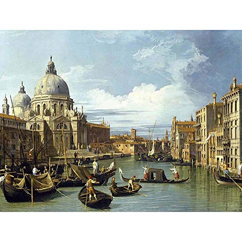 eec415e0cc661 Wee Blue Coo Canaletto The Entrance To Grand Canal Venice Old Master  Painting Art Print Poster Wall Decor 12X16 Inch