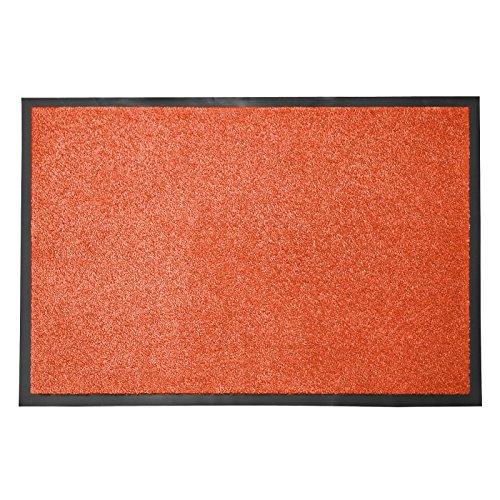 casa pura® Premium Fußmatte in attraktiver Optik | Schmutzfangmatte in 5 Größen | terrakotta | 40x60cm