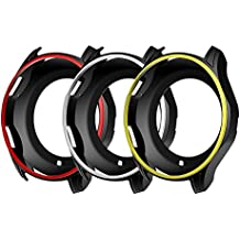 Awinner coloré Coque pour Gear S3Frontier Sm-r760, résistant aux chocs et aux chocs de protection iWatch Coque en silicone pour Samsung Gear S3Frontier Sm-r760Smartwatch