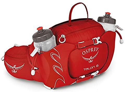 Osprey Talon 6 - Red / Lumbar Low Hydration Hydrate Waist Backpack Rucksack Belt Baggage Luggage Sack Satchel Duffel Wallet Accessories Running Runner Run Hiking Hiker Hike Camping Camper Camp Bum Bag Fanny Pack Drinking Drink Water Juice Energy Liquid Bottle Holder Sport Outdoor Iron Man Marathon Triathlon Event Storage Store Container Bicycle Cycling Cycle Biking Bike Jogging Jogger Jog Lightweight Exercise Workout 6L Litre Lower Body Rev Riding Rider Ride Unisex Adult Reservoir Bladder