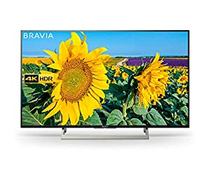 Sony BRAVIA KD43XF8096 43-Inch Android 4K HDR Ultra HD TV with Voice Remote/YouView and Freeview HD - Black, 2018