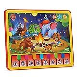 ALIKEEY Animale Apprendimento Tablet Tablet Musica Bambino Pad Presto Giocattolo Educativo di Apprendimento per I Bambini Natale Giocattolo Educativi per Bambini