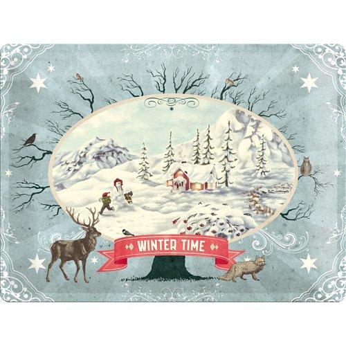 Nostalgic-Art 23160 Winter Time Scenery, Blechschild, 30 x 40 cm