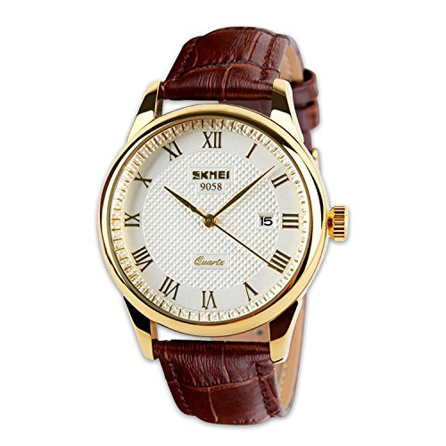 analog-quartz-business-casual-genuine-leather-band-dress-wrist-watch-with-white-dail-and-roman-lette