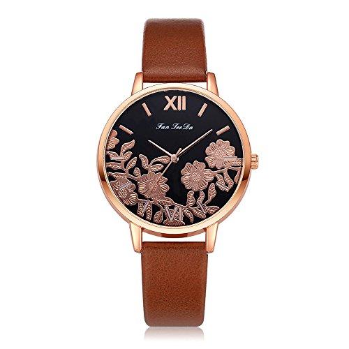 Uhren Damen Armbanduhr Frauen Blumen schnitzen Armbanduhr Quarz Analoge Uhr Mode Uhrenarmband Watch Sportuhr Uhren Retro Armbanduhr,YpingLonk