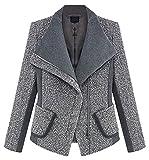 La Vogue Manteau Veste Costume Femme Chaud Col Revers Slim ...