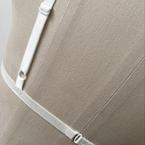Büstenhalter,Manadlian Frauen Harness BH elastischen Käfig Schwarz