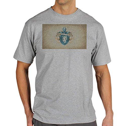 Game Of Thrones Season 4 Winter Is Coming Background Herren T-Shirt Grau
