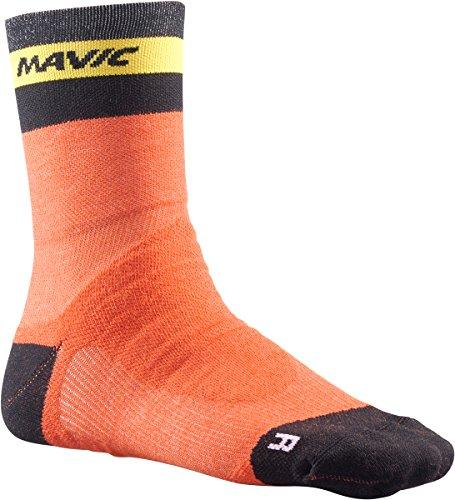 Mavic Ksyrium Elite Thermo Winter Fahrrad Socken orange/schwarz 2018: Größe: M (39 42) -