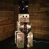 kingfisher Decorazione da Interno Pupazzo di Neve Squadrato Illuminato-75cm di Altezza