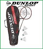 Set Of 2 x Dunlop Badminton Racket DUNLOP MATCH 2 Rackets + 3