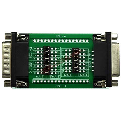 CZH-LABS D-Sub DB15 Diagnose-Test Breakout Board, DSUB DB15 Stecker auf Buchse.
