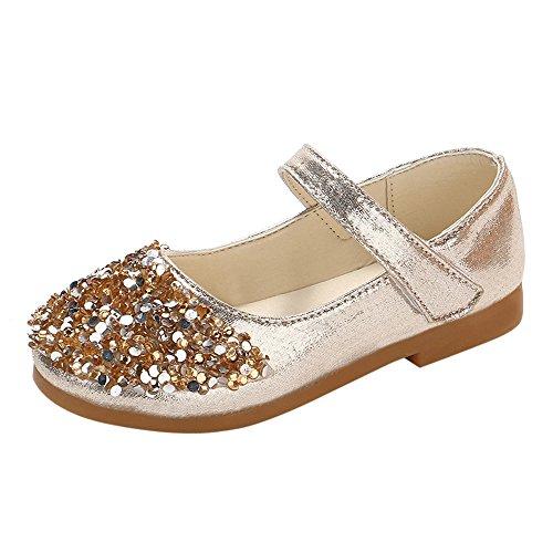 leinkind Schuhe Kinderschuhe Mädchen Kristall einzelne Schuhe Ballerinas T-Strap Schuhe Lederschuhe Lauflernschuhe Mädchen Prinzessin Schuhe … ()