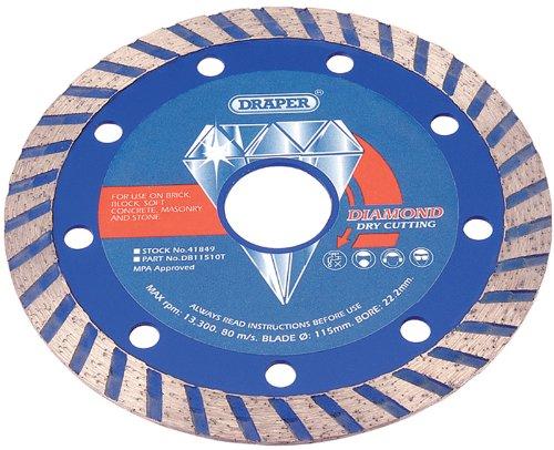 Turbo Rim Diamond Blade (Draper 41849 115 X 22.2Mm Continuous Turbo Rim Diamond Blade)