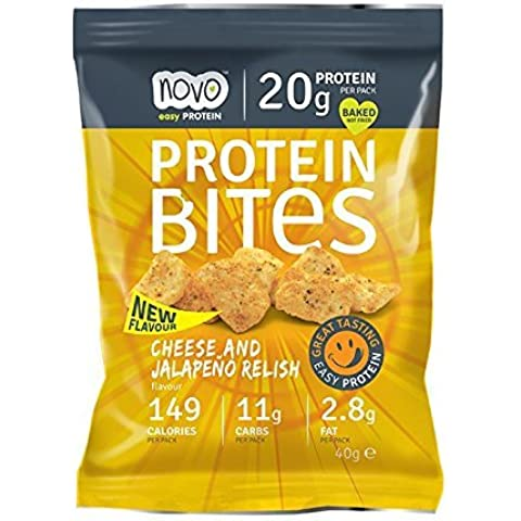 Protein Bites 40 g Cheese and Jalapeno Relish by Protein Bites - Jalapeno Relish