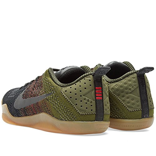 Nike Herren Kobe Xi Elite Low 4kb Basketballschuhe Black (Schwarz / Team Red-Raue grüne)