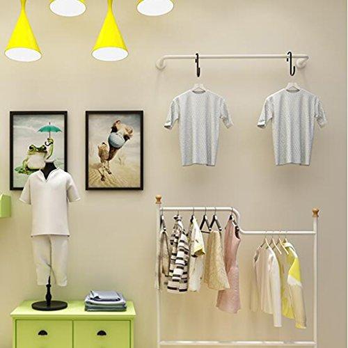 FEIFEI Cintres Étagères de vêtements de fer / étagères de magasin de vêtements / présentoir / étagères murales rack / Tenture murale sur les cintres muraux / porte-manteaux / vêtements séchage étendoir stable et durable ( taille : 120cm )