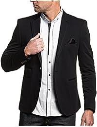 BLZ jeans - Veste de costume homme noir chic liseret rouge