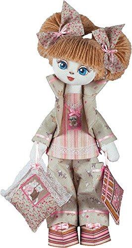 Komplettes Nähset Puppe Schlafmütze 18x45 cm mit Materialien selber basteln Puppenherstellung