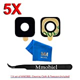 MMOBIEL Pack of 5 Back Rear Camera Glass Lens Replacement + Pre-installed Adhesive +TWEEZER for Samsung Galaxy S7 G930/S7 Edge G935 Series + Cleaning Cloth