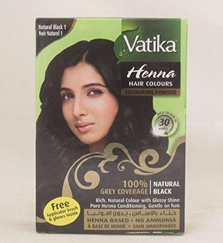 Dabur Vatika - Coloration pour cheveux au henné - noir - 60 g