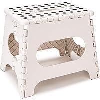 Gaocunh - Sgabello pieghevole in plastica super resistente, per bambini e adulti, con manici