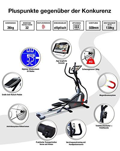 Sportstech Elite Crosstrainer CX650 mit App Steuerung + Google Maps - 4